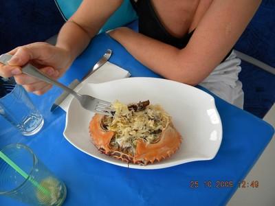 Crabe farci façon asiatique